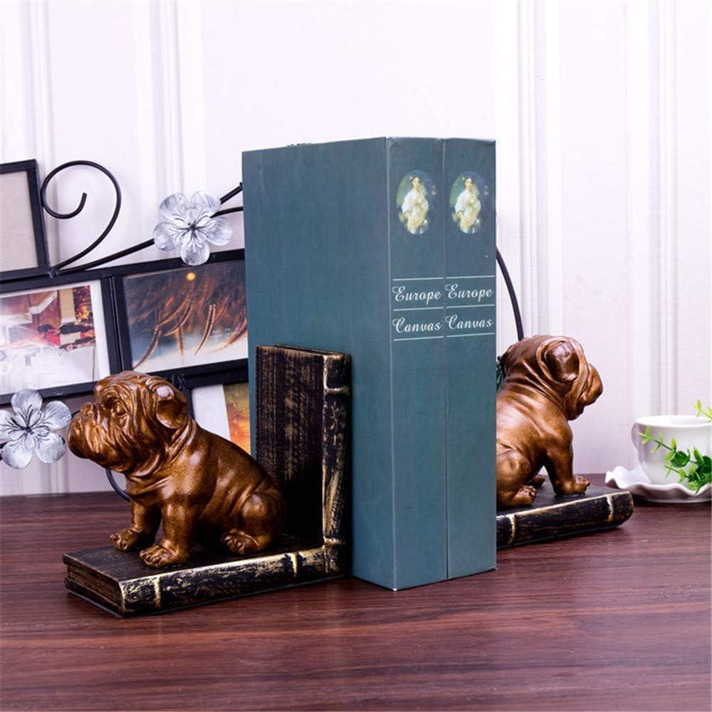 1 Paar Xinrongqu Vintage Welpen Buchst/ützen ,B Resin Crafts Buchhalter Office Home Dekoration