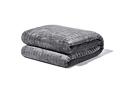 """Gravity Blanket: The Weighted Blanket For Sleep, Stress and Anxiety, Space Grey 48"""" x 72"""" Size, 25-Pound sleep blankets - 61hQeDiLSGL - Sleep blankets review – benefits of sleeping with weighted blankets"""