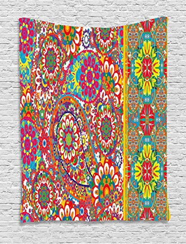 Ambesonne Ethnic Tapestry by, Persian Paisley Leaf for sale  Delivered anywhere in USA