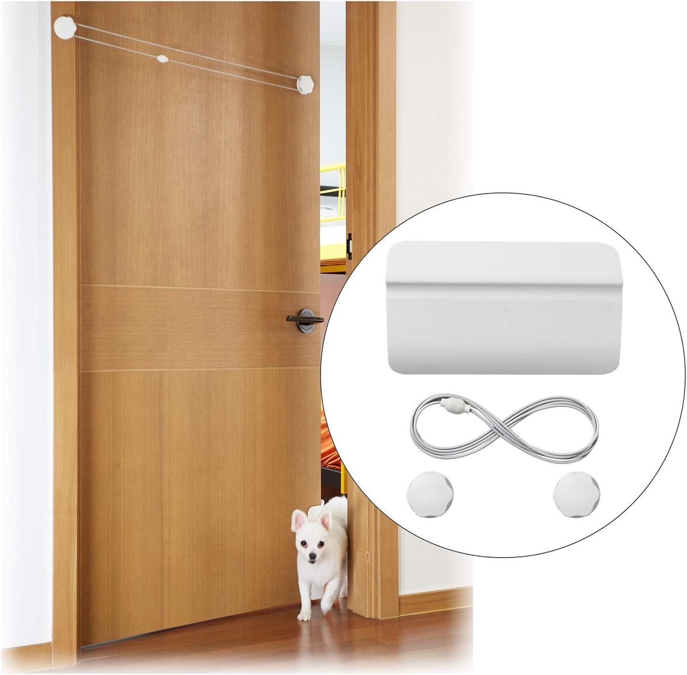 LuDiRo Puerta de Seguridad para Mascotas Puerta Automática Puerta para Perros Gatos Aplicable Baño Dormitorio e Inodoro Entrenamiento Blanco: Amazon.es: Productos para mascotas