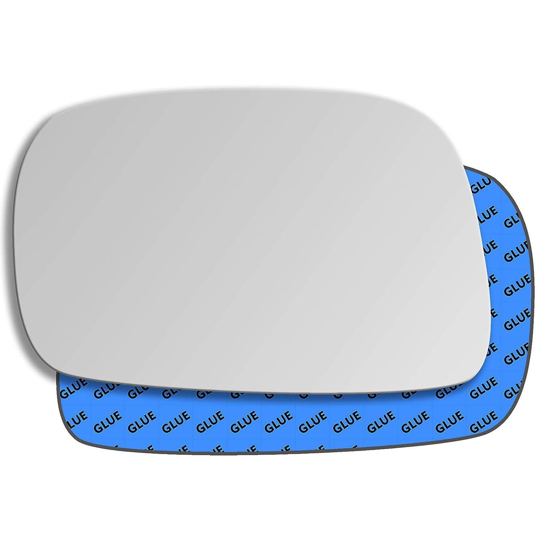 Hightecpl 136LS Left Hand Passenger Side Convex Mirror Glass Replacement
