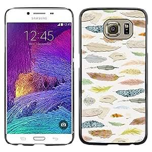 TopCaseStore / la caja del caucho duro de la cubierta de protección de la piel - Ornithology Selection - Samsung Galaxy S6 SM-G920