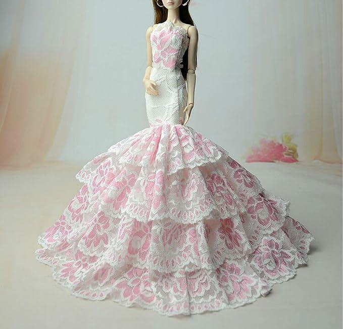Amazon.es: SG523 Fantasía Hecho a mano Vestido de novia el 11, 5
