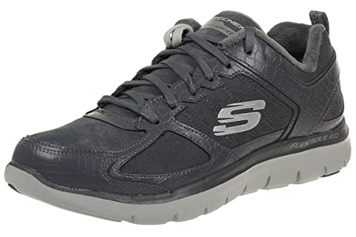 Skechers Flex Appeal 2.0 Soft Shock Women's Trainers fitness lite grey charcoral , pointure:eur 36