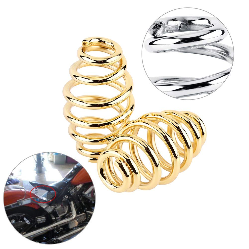 3Kit Staffa di Montaggio Molle in Acciaio per Sedile Posteriore per Motorcycle Gold 1 Paio