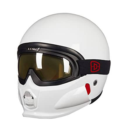 zyy Casco, casco de Four Seasons Vintage Casco hecho a mano de la vendimia Motorcycle