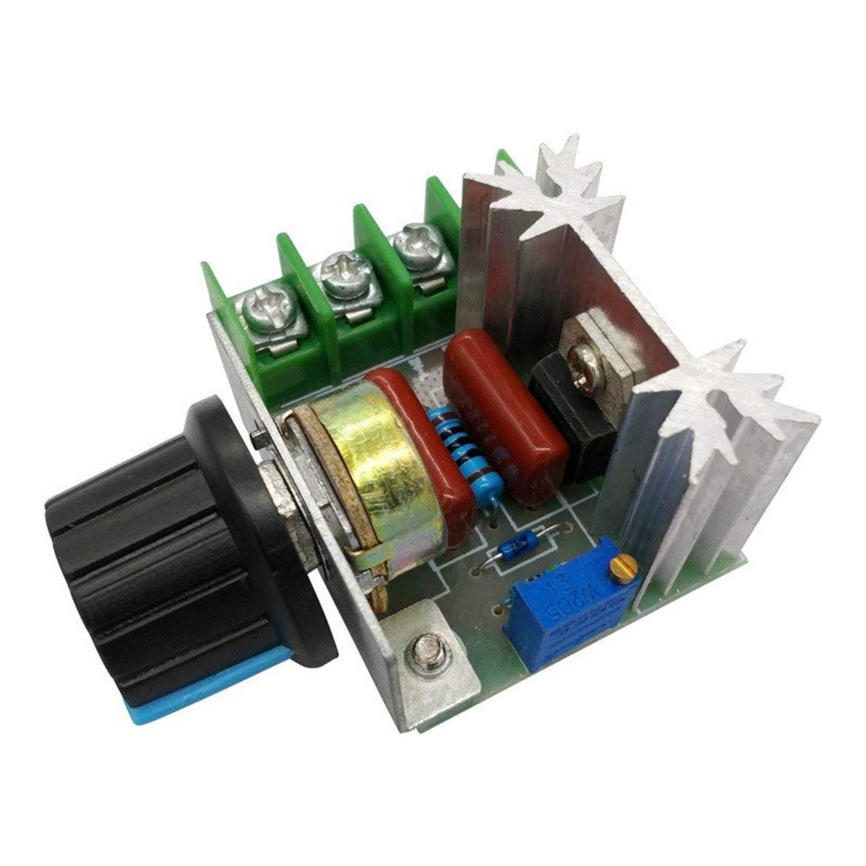 2000W SCR Spannungsregler Dimmdimmer Motordrehzahlregler Thermostat Elektronisches Spannungsreglermodul Gr/ün