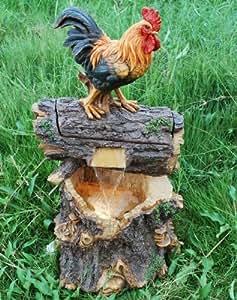 Diseño de gallos Log agua para jardín Lit en función de 72 cm/72,01 cm