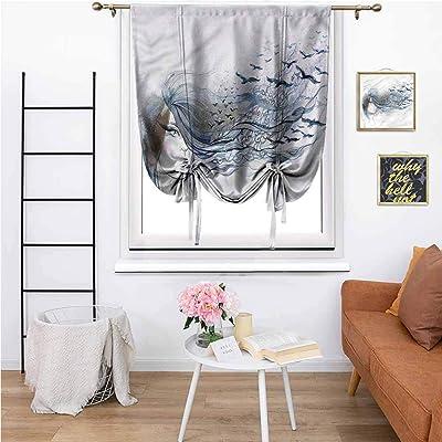 "Decor Curtains Portrait of a Mystic Woman,Courtyard Porch Gazebo Decoration 42""x72"": Home & Kitchen"