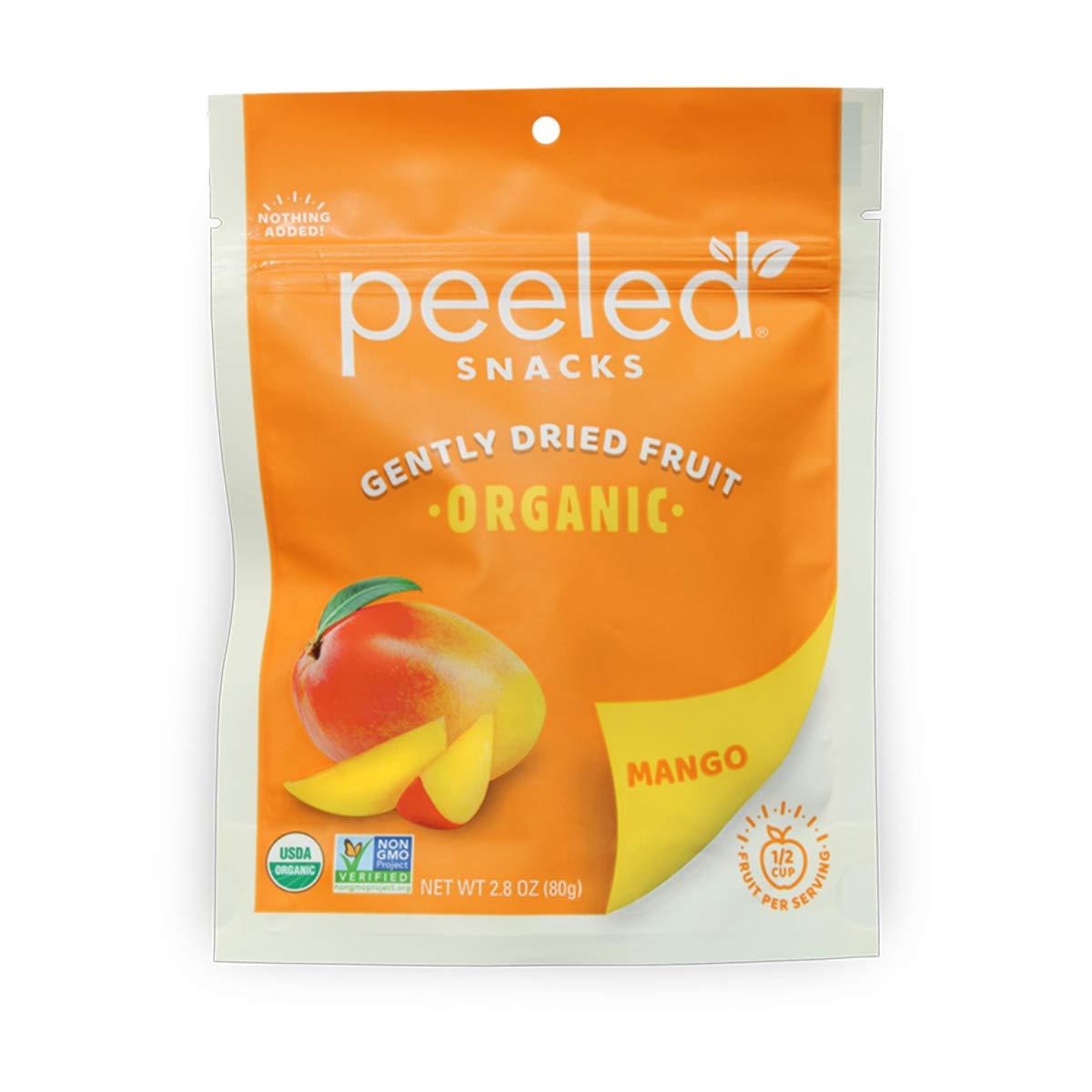 Peeled Snacks Organic Dried Fruit, Mango, 2.8 Ounce (Pack Of 12) by Peeled Snacks