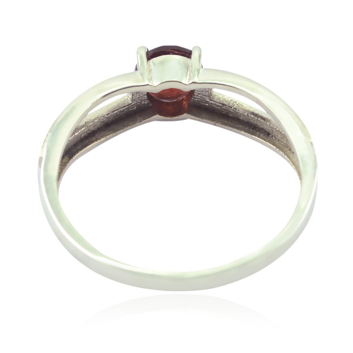 925 Sterling Silver Red Garnet Real Gemstones Ring Jewellery Most Item Gift for Wife Real Gemstones Round Faceted Garnet Ring