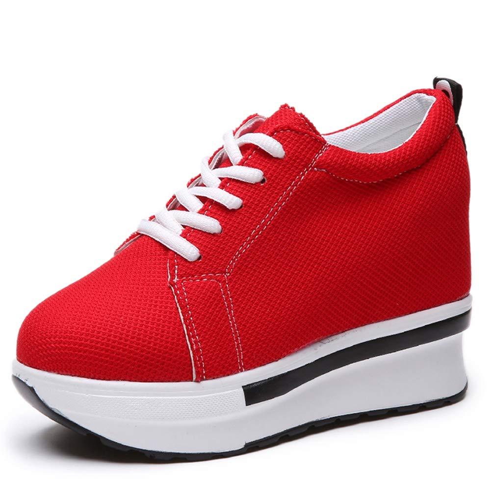 JOYBI Womens Hidden Wedges Shoes High Heeled Lightweight Mesh Sneakers Tennis Air Fitness Casual Walking Shoes
