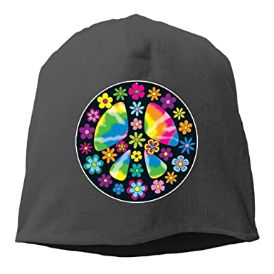 8f917eb6149 Amazon.com  Art Peace Signs Unisex Knit Hat Soft Stretch Beanies Skull Cap  Hedging Cap Black  Clothing