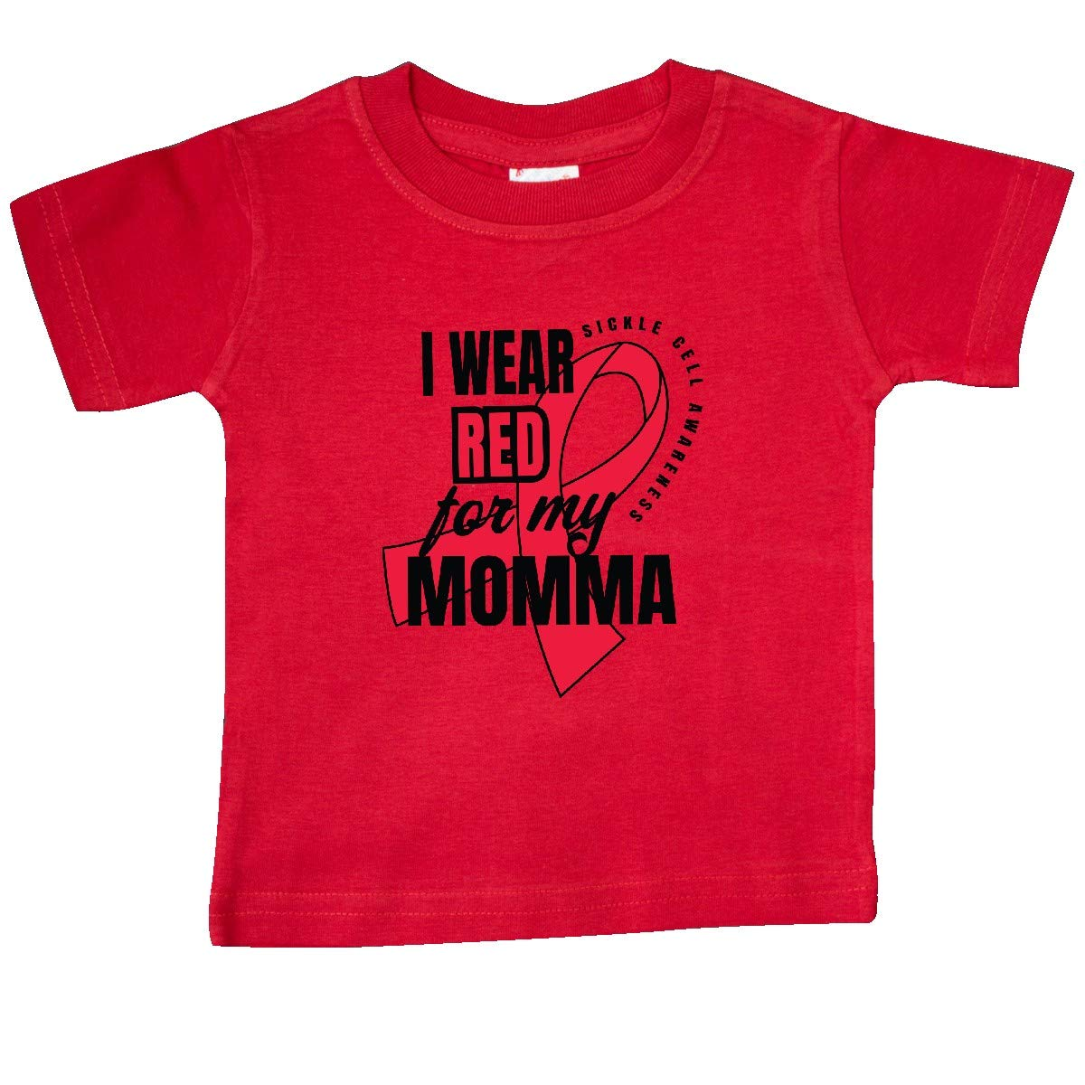 inktastic Sickle Cell Awareness I Wear Red for My Momma Baby T-Shirt