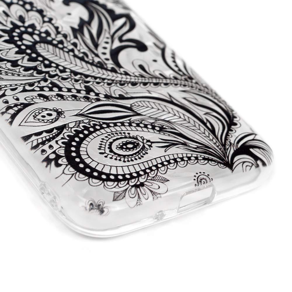 Motif Bleu LaVibe /Étui Gel Silicone TPU Anti-Chute Transparant Embosser Protecteur Housse Anti-Rayures Pare-Chocs Bumper Souple Ultra Slim Flexible Soft Case Cover Coque Samsung Galaxy J2 Pro 2018