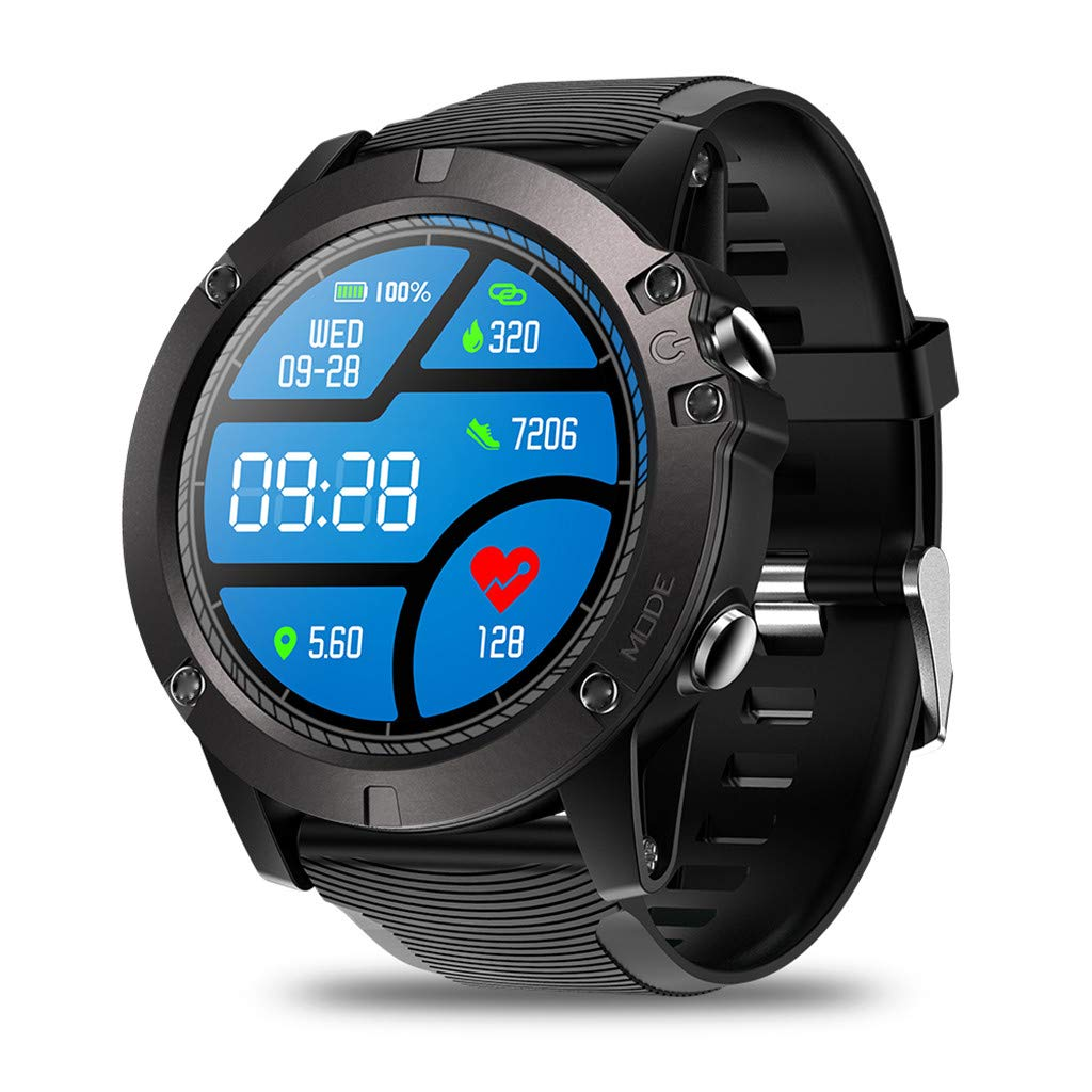 Hot Sale! Smart Watch Waterproof, NDGDA 2019 1.3 Inch Sports Bracelet for Android iOS (Black)