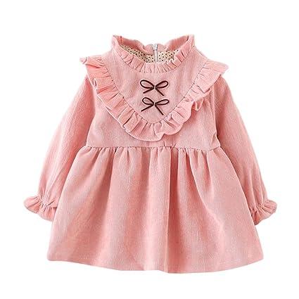 Ropa bebé Amlaiworld Niñas bebé otoño manga larga princesa vestido (6-12 Mes,