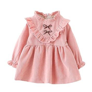 649e0d07f Ropa bebé Amlaiworld Niñas bebé otoño manga larga princesa vestido (0-6 Mes
