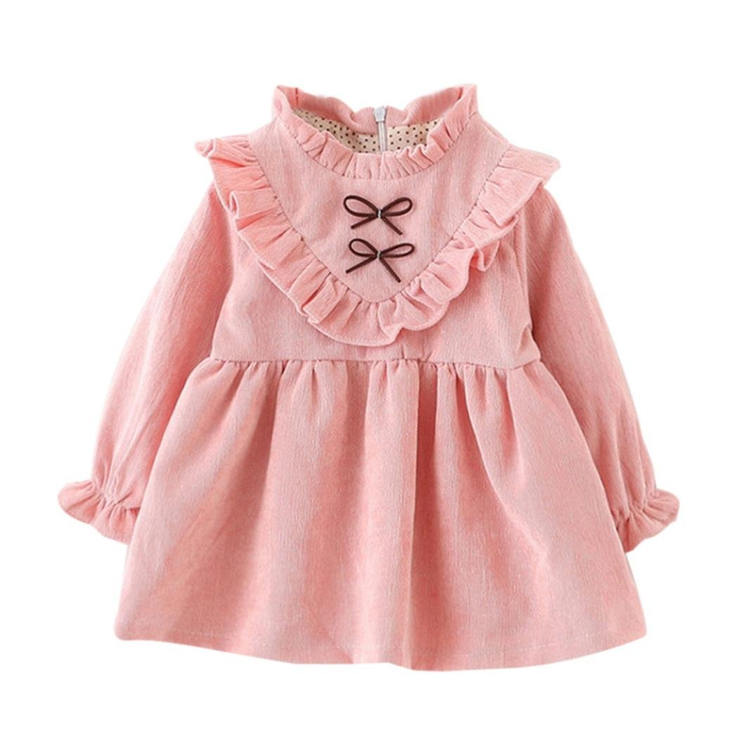 Clode for 0-2 Years Old Girls Fashion Autumn Spring Toddler Kids Baby Girls Long Sleeve Princess Dress for School, Party Clode-T60