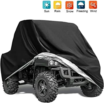 GES ATV Covers 4 Wheeler Cover ATV Cover Waterproof Heavy Duty with Storage Bag Sun Dust Snow Rain Quad Covers 57.1 x 33.5 x 38.6 Inch