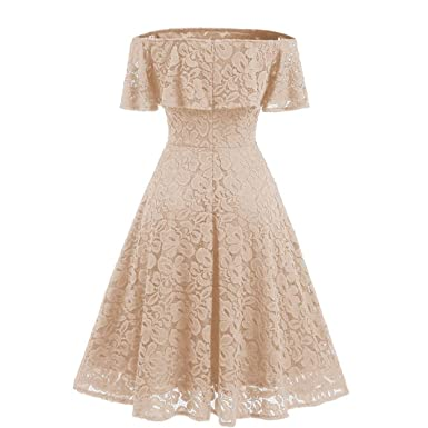 Womens Prince Princess Off The Shoulder Formal Wedding Lace Prom Dress Dresses