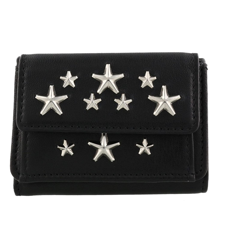 ジミーチュウ 三つ折り財布 レディース ブラック NEMO CST BLACK [並行輸入品] B07D737G52