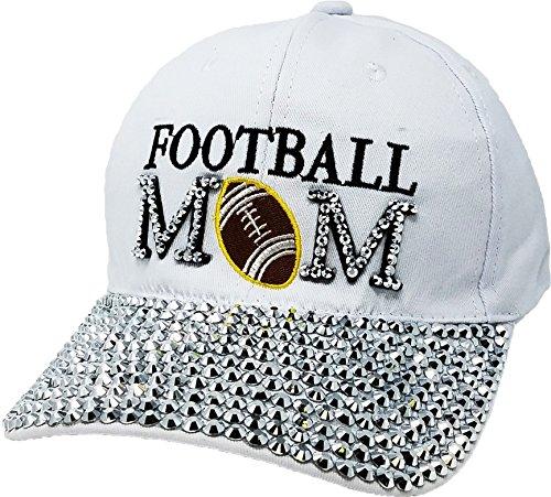 Mom Visor - H-210-FB09 Baseball Cap - Football Mom (White)