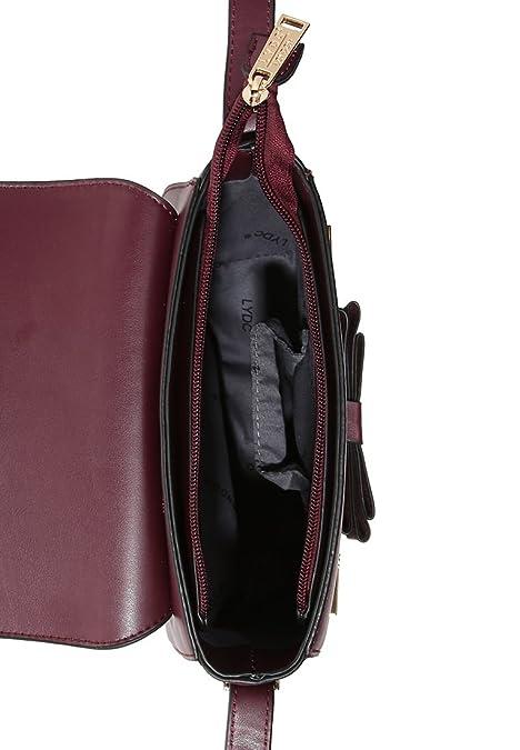 39fb729530 LYDC London , Sac bandoulière pour femme rouge uni wine: Amazon.fr:  Chaussures et Sacs
