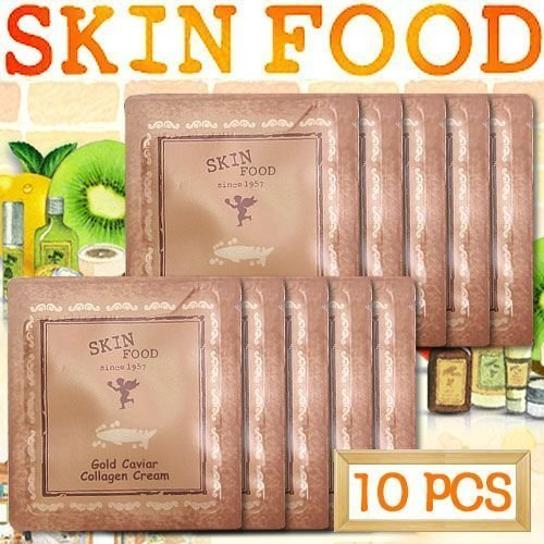 [Skinfood] Gold Caviar Collagen Cream Samples - 10pcs Skin Food From Thailand by Chom