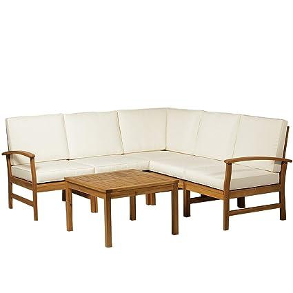 Cool Amazon Com 6Pcs Wood Corner Sofa Single Arm Chair Table Beatyapartments Chair Design Images Beatyapartmentscom