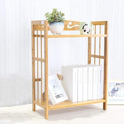 Estantería de Mesa de bambú, estantería telescópica de Escritorio ...