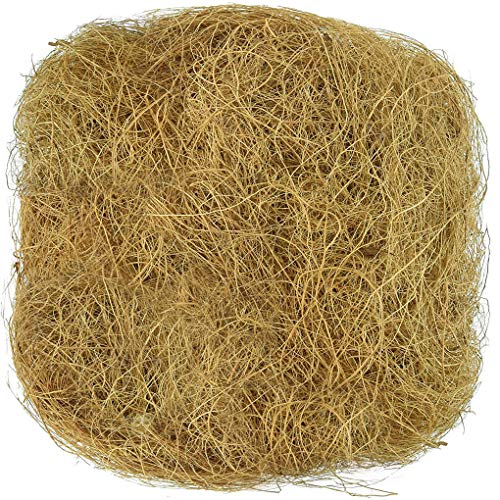 SunGrow Coconut Fiber (1.5 oz) - Comfortable Bedding for Small Birds and Animals: 100% Natural Nest Material: Great for Nest Building and Hideouts: Dust Free ()