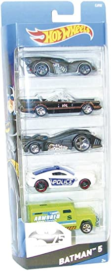 Hot Wheels - Pack de 5 Coches, diseño Batman (Mattel CJF82 ...