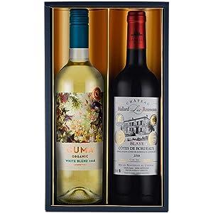 コンクール金賞受賞ワイン入り赤白ワインギフト 女性向け 750mlx2本