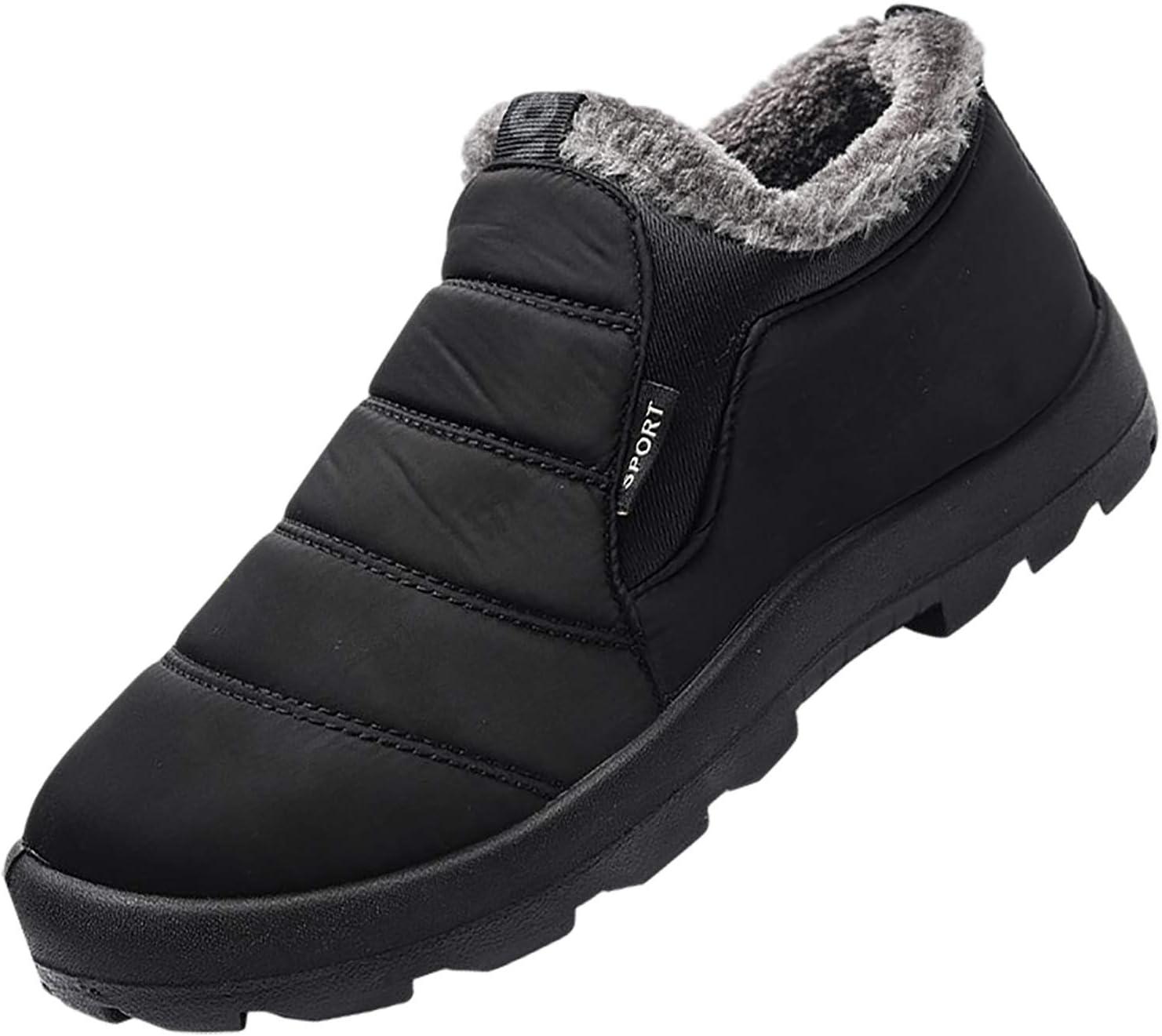 Mens Plus Velvet Warm Outdoor Sports Shoes Waterproof Snow Cotton Boots