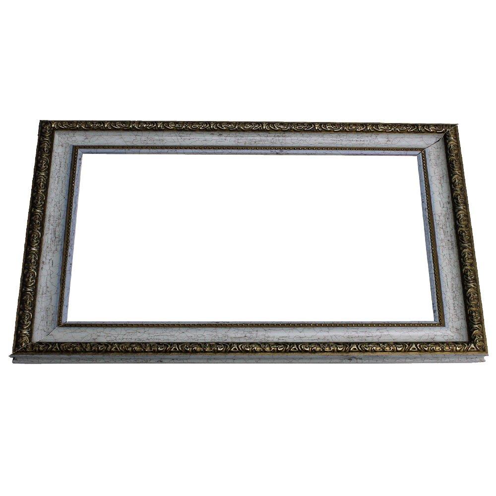 アルナ 長方形 水彩 ポスター 刺繍 樹脂 額縁 1644 ホワイト 13677 600×300mm B01CFUQPGA 600×300mm|ホワイト ホワイト 600×300mm
