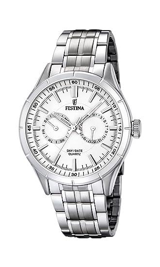 Festina F16780/1 - Reloj de Pulsera Hombre, Acero Inoxidable ...