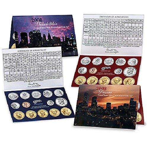 Mint Set  P and D 28 coins Sacagawea dollar Kennedy State Quarters COA 2007 U.S
