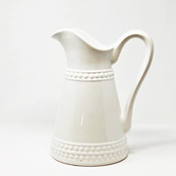 Amazon Antico Murano Tall White Ceramic French Country Pitcher