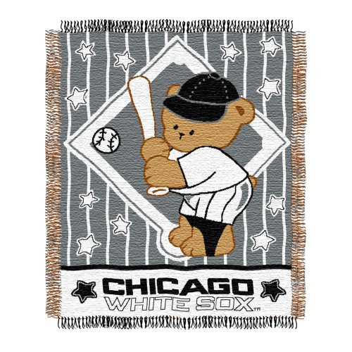 UPC 087918721494, MLB Chicago White Sox 36-Inch-by-46-Inch Woven Jacquard Baby Throw