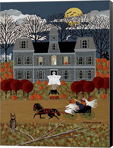 Halloween 1 by Anthony Kleem Canvas Art Wall Picture, Museum Wrapped with Black Sides