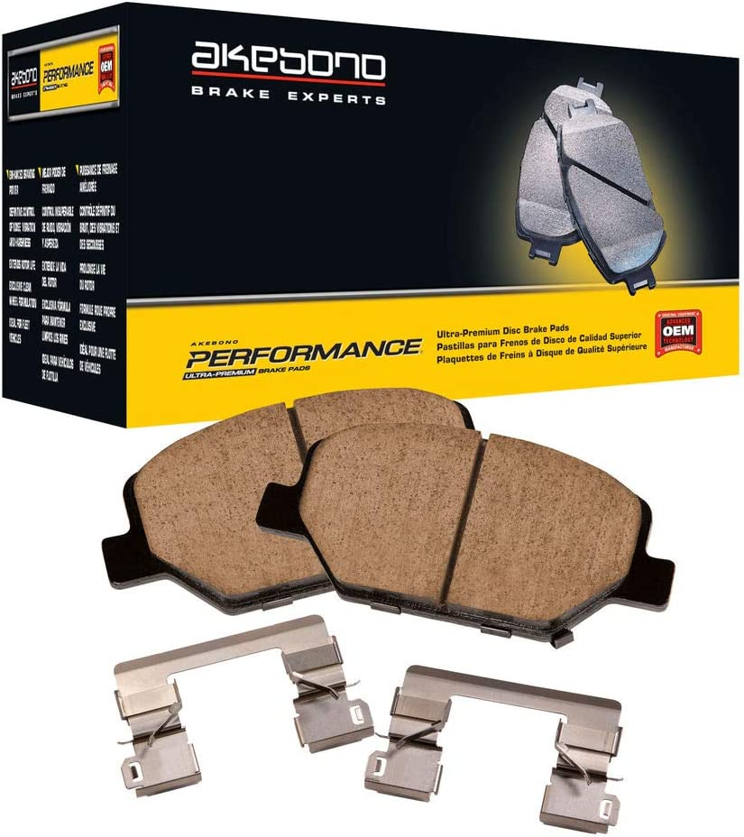 Akebono Performance ASP833 Akebono Performance Ultra-Premium Brake Pads specifically engineered for fleet Precision fit /& made from a proprietary mix of ceramic compounds to maximize performance rotor compatibility /& minim law enforcement /& extreme use