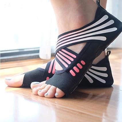 SONGYANG Calcetines de Yoga Calcetines Antideslizantes de ...