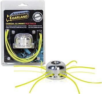 Garland 7199000096 - Cabezal de Aluminio Multihilo Universal para Desbrozadora