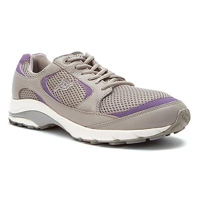 Propet Women's Journey Mesh Shoe,Light Grey/Lilac,7 ...