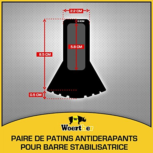 ECHELLE TE ESCABEAU WOERTHER PAIRE DE PATINS POUR BARRE STABILISATRICE