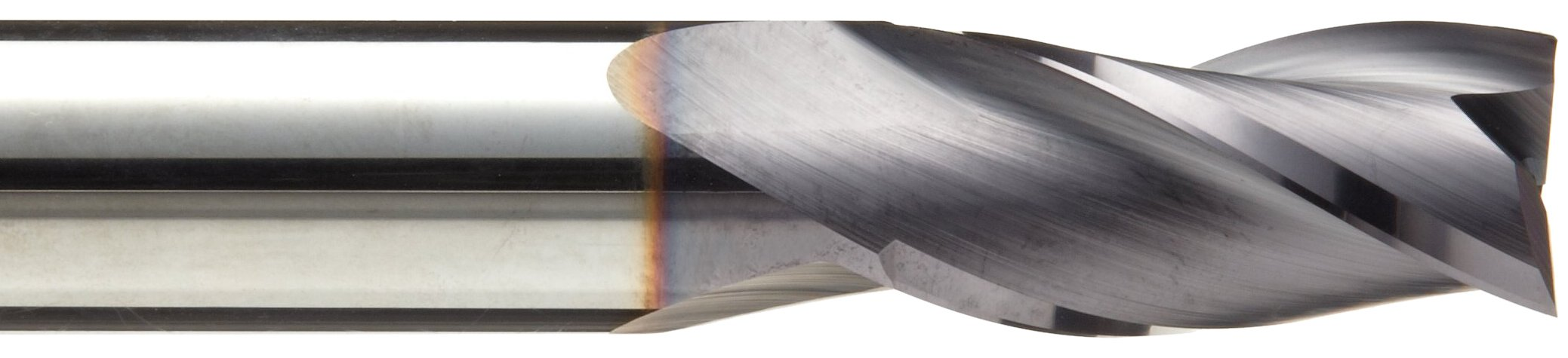 Niagara Cutter N86026 Carbide Square Nose End Mill, Inch, TiAlN Finish, Roughing and Finishing Cut, 30 Degree Helix, 3 Flutes, 3'' Overall Length, 0.500'' Cutting Diameter, 0.500'' Shank Diameter by Niagara Cutter (Image #2)