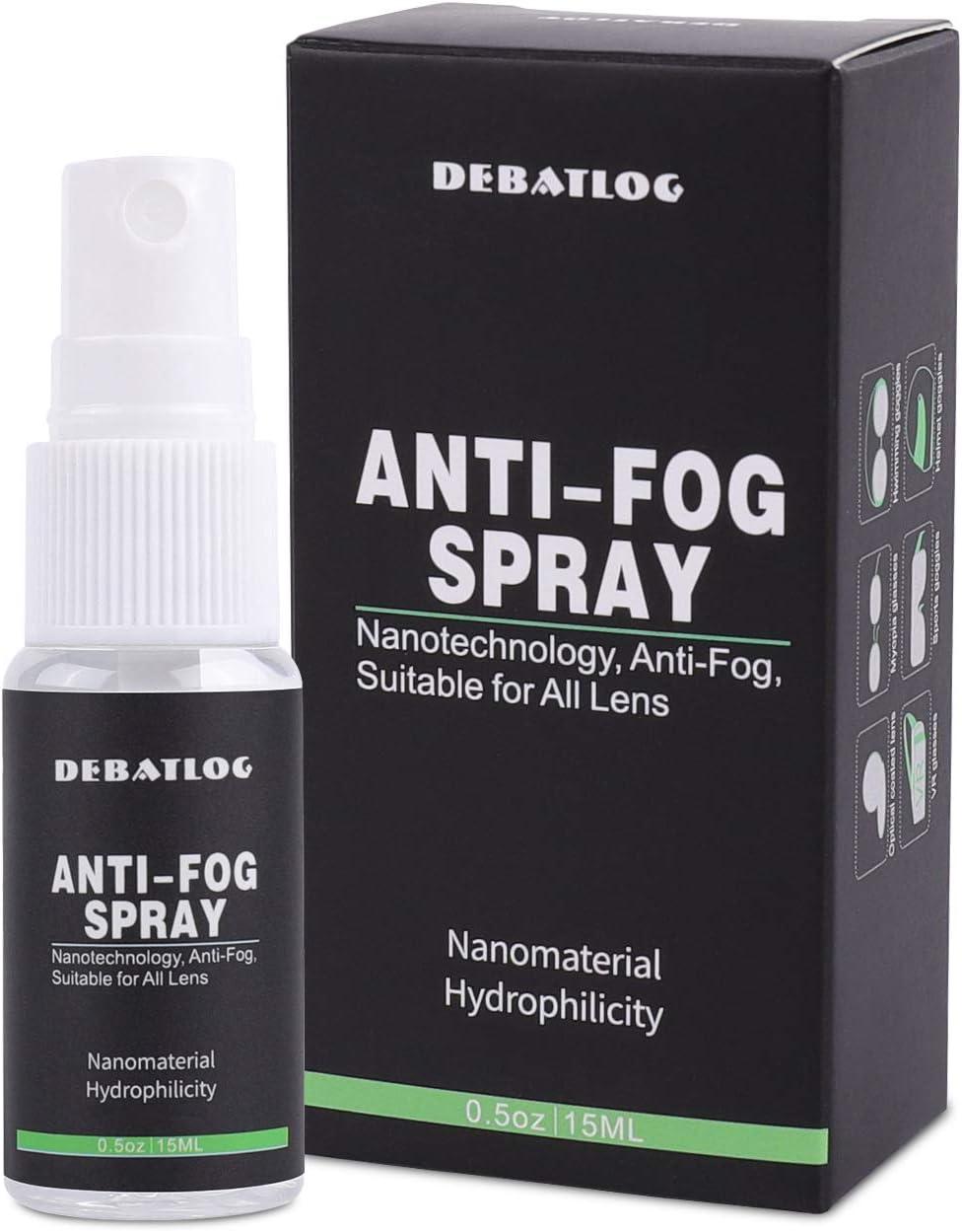 DEBATLOG Anti-Fog Spray for Glasses   Professional   Work on Eyeglass, Mask, Sports Goggles, Swim Goggles, Bathroom Mirror, Humid Environment, Nanotechnology, Alcohol-Free  Durable Anti-Fog : Sports & Outdoors