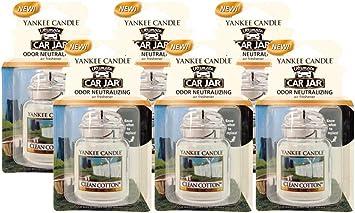 Yankee Candle Clean cotton car jars en pack de tres