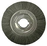Weiler 86131 Burr-Rx Crimped Filament Wheel Brush, 10'', 0.55/80CG Fill, 2'' Arbor Hole